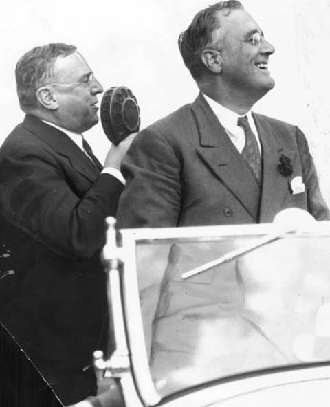 Chicago Mayor Anton J. Cermak, left, and Franklin D. Roosevelt after Roosevelt received the president nomination in Chicago in 1932.