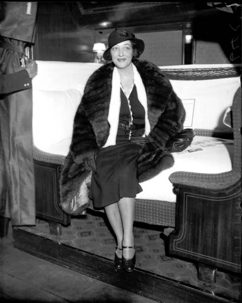 Pauline Frederick at Union Station, January, 1932. Frederick made her film debut in 1915, at the age of 32. She easily adapted to the switch from silent films to sound and become a star. She was hindered by her asthma and it eventually contributed to her death in 1938 at age 55.