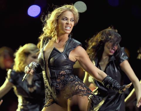 Beyonce performs during the Pepsi Super Bowl XLVII Halftime Show at Mercedes-Benz Superdome on in New Orleans, Louisiana.
