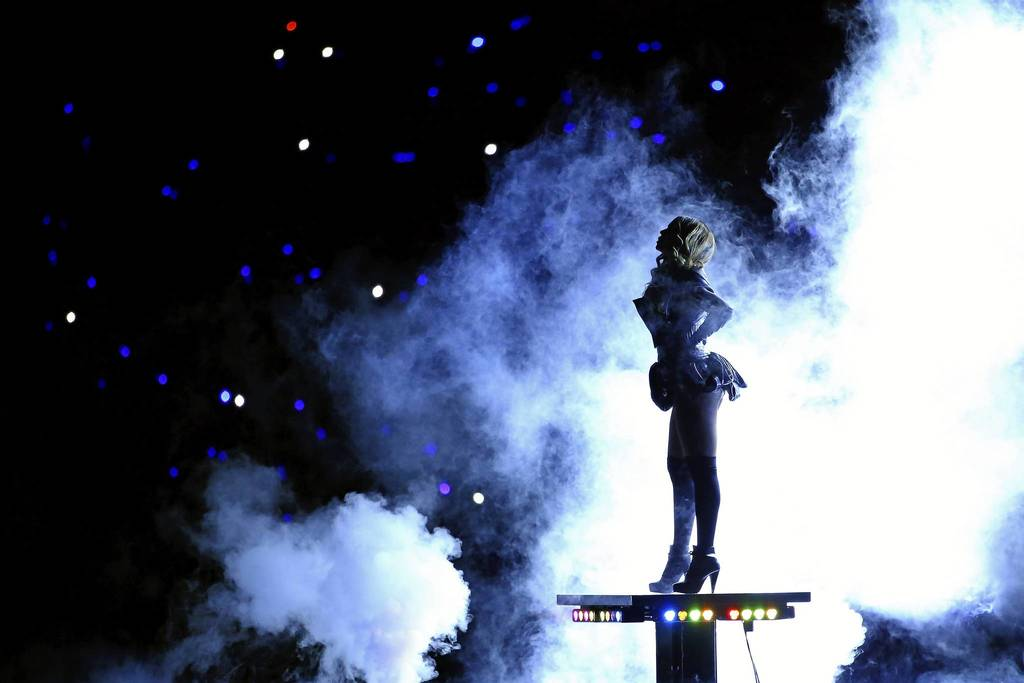 Singer Beyonce performs during the Pepsi Super Bowl XLVII Halftime Show at the Mercedes-Benz Superdome in New Orleans, Louisiana.