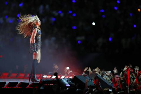 Recording artist Beyonce performs during halftime of Super Bowl XLVII between the San Francisco 49ers and the Baltimore Ravens at the Mercedes-Benz Superdome.