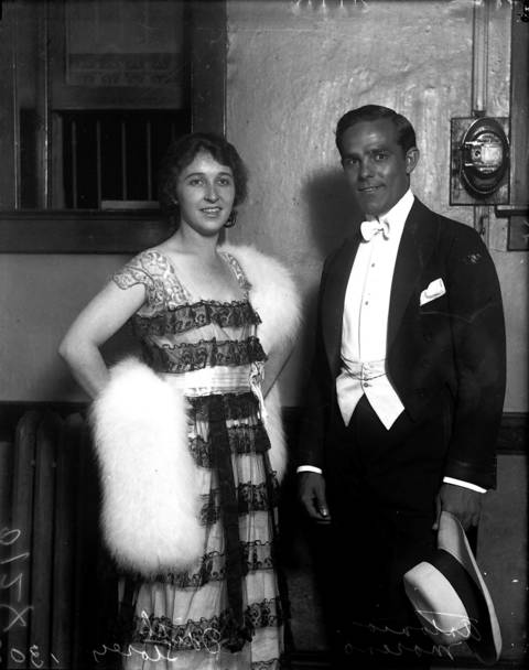 Edith Storey, movie actress, and Antonio Moreno, movie actor. Storey was a silent movie actress who retired in 1921, Moreno was a American Spanish-born silent film actor and director.