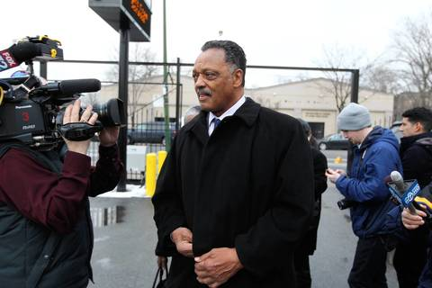 The Rev. Jesse Jackson enters the visitation for 15-year-old Hadiya Pendleton at Calahan Funeral Home, 7030 S. Halsted St., in Chicago