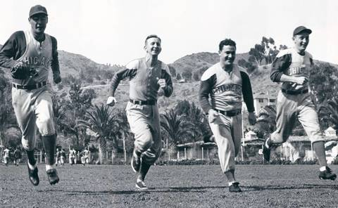 """Dom Dallessandro (right): Known as """"Dim Dom,"""" he was the original Tony Campana, standing 5-foot-6 and playing outfield in Wrigley Field. He drove in 85 runs in 1941, his second season with the Cubs. Unfortunately for Dim Dom, he served in World War II and missed the 1945 season, the last time the Cubs won a pennant."""