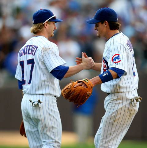 """Ryan Theriot/Mike Fontenot: The Cajun Connection, a pair of undersized infielders who played together at LSU, were beloved during the 2007 and '08 seasons. Theriot was nicknamed """"The Riot"""" and Fontenot was mistaken as a bat boy by Alfonso Soriano in his first day in the big leagues in New York. Theriot became a villain at Wrigley when he said he was """"on the right side of the rivalry"""" after winding up with the Cardinals, but won World Series rings with them and the Giants. Fontenot also wound up winning a World Series ring with the Giants."""