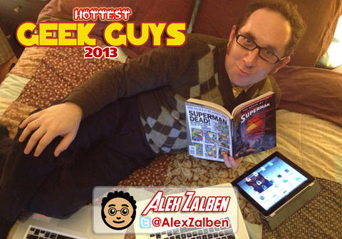 By day, Alex Zalben is just a regular old Producer at MTV Geek, making videos about comic books. By night, though, he's podcasting about comic books for The Nerdist's Comic Book Club, or writing comic books like Marvel's Thor and the Warriors Four, or his own Detective Honeybear. While sleeping, he dreams about comic books. And sorry, ladies! He's already in a relationship with, you guessed it: comic books. He also owns a lot of laptops, apparently.