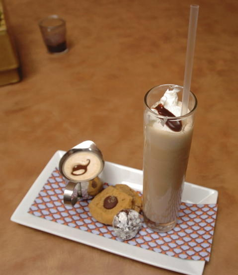 Milk chocolate malt and cookies at Hot Chocolate, 1747 N. Damen Ave.