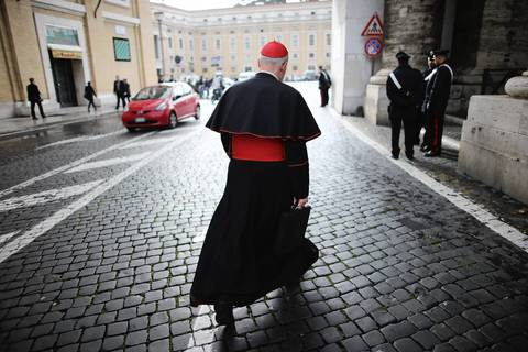 Canadian Cardinal Marc Ouellet walks to Vatican City. Cardinals are set to enter the conclave to elect a successor to Pope Benedict XVI after he became the first pope in 600 years to resign from the role. The conclave is scheduled to start on March 12 inside the Sistine Chapel and will be attended by 115 cardinals as they vote to select the 266th Pope of the Catholic Church.
