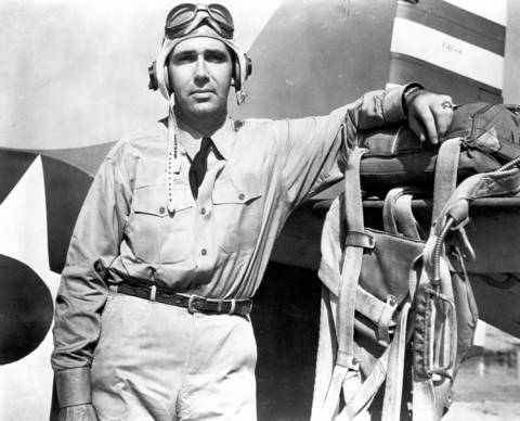 "Navy Lt. Edward ""Butch"" O'Hare, shot down five Japanese bombers. He won the Medal of Honor but disappeared in the South Pacific in 1943."