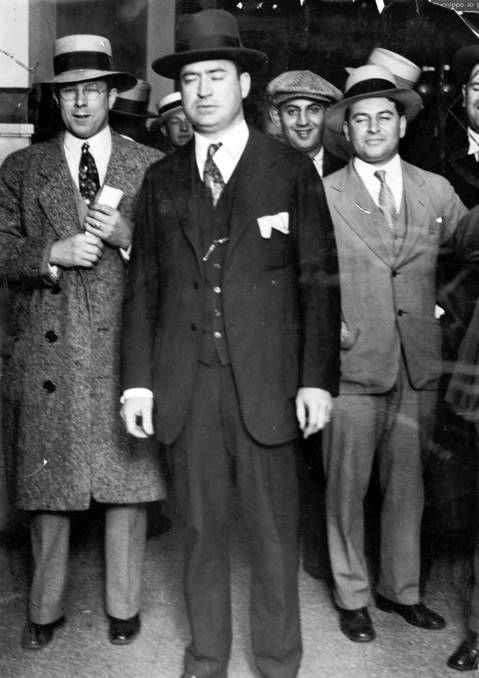 An undated photo of Edward J. O'Hare emerging from court when he was president of the Hawthorne Kennel Club, a Cicero dog track. O'Hare was in court for a hearing on an injunction against the track.