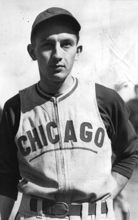 Cubs first baseman Eddie Waitkus in 1941, his rookie year.