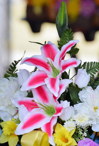 Easter Flowers and Easter Palms are seen at Rich Mar Florist on 2407 Easton Avenue in Bethlehem. .
