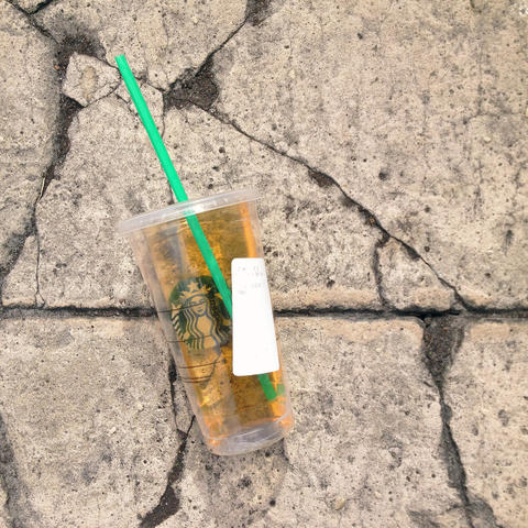 A image from Sidewalk, a series of photos of found objects.