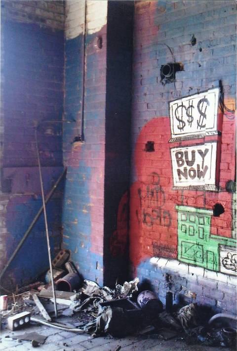 Art inside an abandoned granary off Ashland Avenue.
