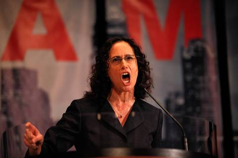 Illinois Attorney General Lisa Madigan gives a fiery speech to the Illinois delegation breakfast Tuesday Sept. 4, 2012 in Charlotte N.C.