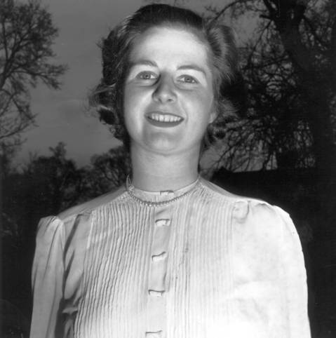 Margaret Hilda Thatcher, nee Roberts, as the Conservative candidate for Dartford, Kent, before she married husband Denis.