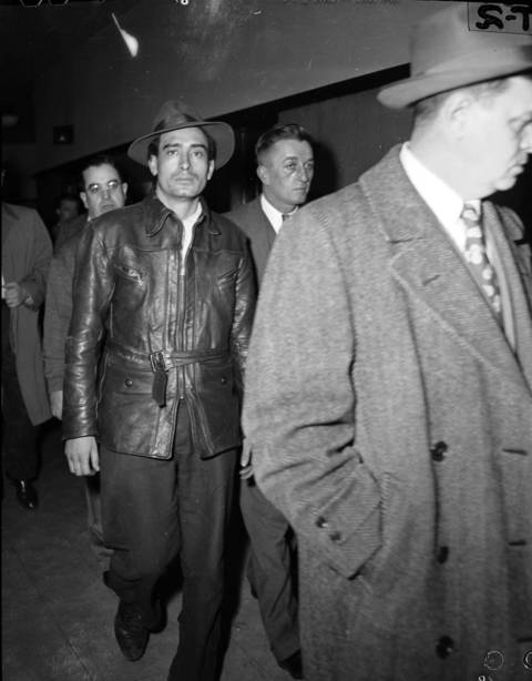 Herlindo Arias Perez, left, was one of the many suspects questioned in the murder of Roberta Rinearson on Dec. 21, 1948. Arias, 31, had confessed to the murder but was eliminated as a suspect by a lie detector test and statements by relatives that he was home drunk at the time of the murder. Arias was later sent to a mental institution where he committed suicide.