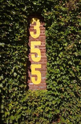Wrigley's famous brick and ivy outfield wall.