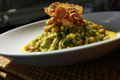 Pasta with Tuscan kale pesto at Piccolo Sogno, 464 N. Halsted St.