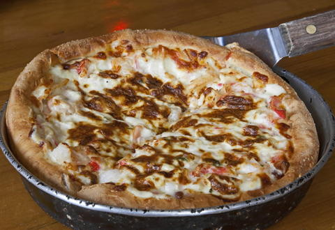The seafood pizza at The Silo, 625 Rockland Rd. in Lake Bluff.