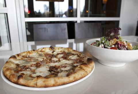 Caramelized onion and bacon pizza at Standard Grill, 333 E. Ogden Ave. in Westmont.