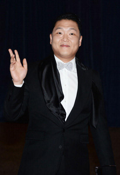 Psy attends the White House Correspondents' Association Dinner at the Washington Hilton on April 27, 2013 in Washington, DC. (Photo by Dimitrios Kambouris/Getty Images)
