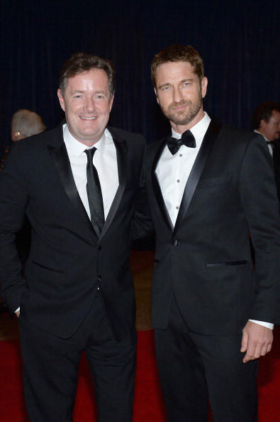 Piers Morgan and Gerard Butler attend the White House Correspondents' Association Dinner at the Washington Hilton on April 27, 2013 in Washington, DC. (Photo by Dimitrios Kambouris/Getty Images)