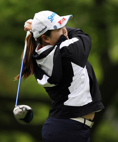 Inbee Park, ranked first in the LPGA, tees off at the 15th hole at the Kingsmill LPGA Pro-Am on Wednesday.