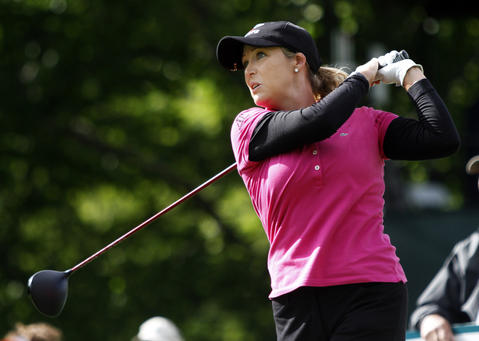 Cristie Kerr tees off at the 14th hole during the third round of the LPGA Kingsmill Championship on Saturday, May 4.