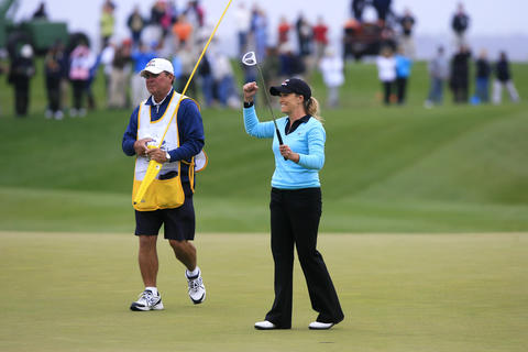 during the final round of the LPGA Kingsmill Championship on Sunday, May 5.