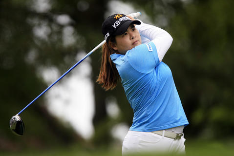Inbee Park drives a tee shot on the front 9 during the final round of the LPGA Kingsmill Championship on Sunday, May 5.