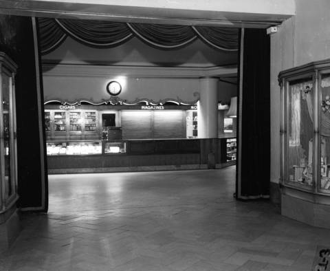 Lobby of the Edgewater Beach Hotel where a crook was shot and killed, Jan. 17, 1944.