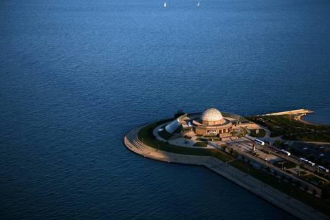 Adler Planetarium in the late afternoon.