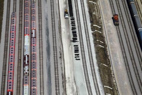 South Side rail yard.