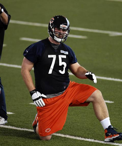 New Chicago Bear Kyle Long at rookie minicamp Friday at Halas Hall in Lake Forest.