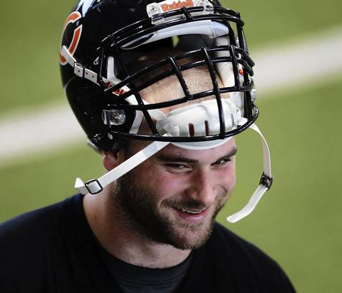 First-round draft pick Kyle Long at the first day of the Bears rookie minicamp Friday.