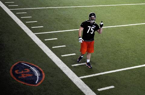 Bears first-round pick Kyle Long after practice Friday.