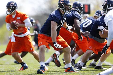 Kyle Long at the Bears rookie minicamp.