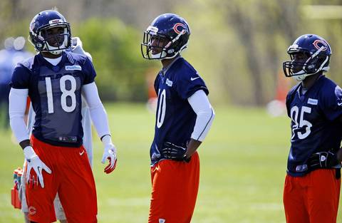 Wide receivers Marcus Rucker, Marquess Wilson and Harry Peoples.