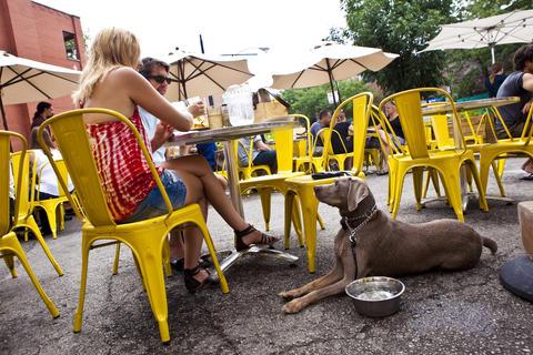 Big Star's umbrella-laden patio is one of Wicker Park's most popular outdoor hangouts.