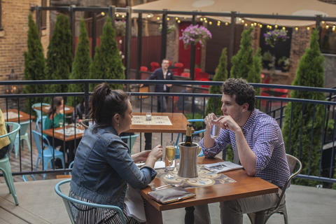 The multi-level courtyard patio RM Champagne Salon in the West Loop is now open for the season.