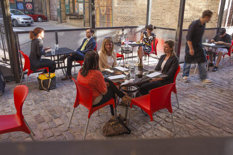 West Loop restaurant G.E.B. has opened its patio for the season.