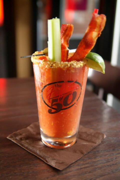 Turkey bacon bloody mary at The Fifty/50, 2047 W. Division St. Check out the 2013 outdoor dining and drinking guide and the city's top BYOBs.