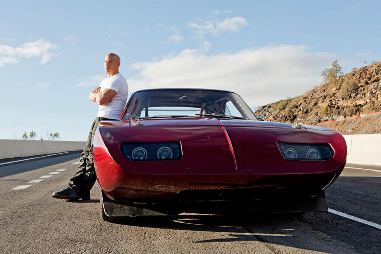 Vin Diesel And A 1969 Dodge Daytona In A Scene From The Sixth Installment  Of The