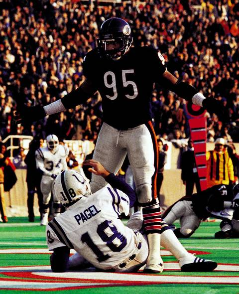 Richard Dent had a celebrated postseason performance in 1985, when the Bears were 15-1 and Super Bowl XX champions. In the wild card game against the Giants, Dent made seven tackles, 3.5 sacks and forced two fumbles. He was Super Bowl MVP for sharing two sacks, forcing two fumbles and blocking a pass. Dent was on four Pro Bowl teams.