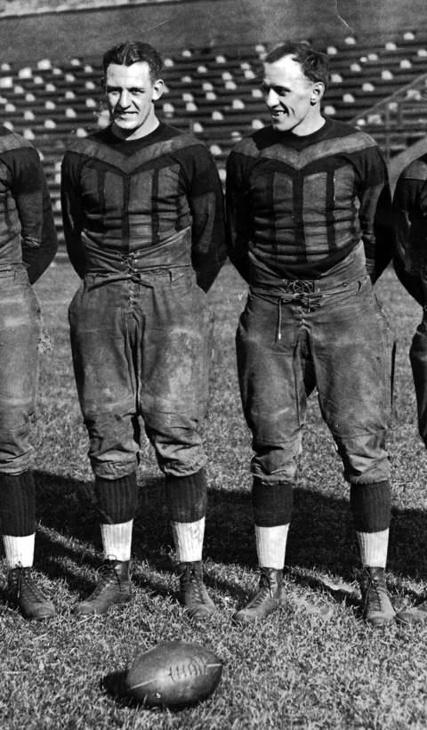 "The ""Galloping Ghost"" Red Grange played five games for George Halas in 1925, signed to play in a different league and then returned to Chicago in 1929, starring for the Bears for the next five season. Grange scored 32 career touchdowns but his biggest play was a touchdown-saving tackle in the 1933 NFL championship game that preserved a 13-10 win over the New York Giants. He was elected to the Hall of Fame in 1963."