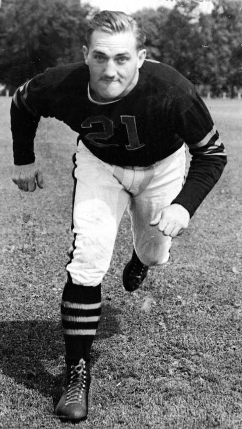 "Danny Fortmann earned All-NFL honors six straight seasons, 1938 to 1943, and in 1965, and was only the second guard to be elected to the Hall of Fame. Fortmann played along side Hall of Fame tackle Joe Stydahar during the most dominant era of of Bears football that gave rise to the ""Monsters of the Midway."""