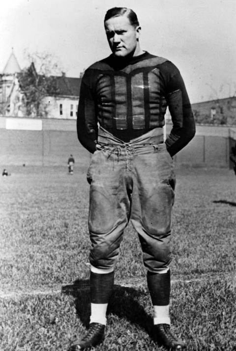 Ed Healey was a dominant tackle for the Rock Island Independents and was so frustrating to George Halas' Bears during a 1922 game that Halas decided to buy Healey's contract. He was all-league five times during his eight-year career and Halas considered him one of the most versatile tackles the game has ever seen. He was elected to the Hall of Fame in 1964.