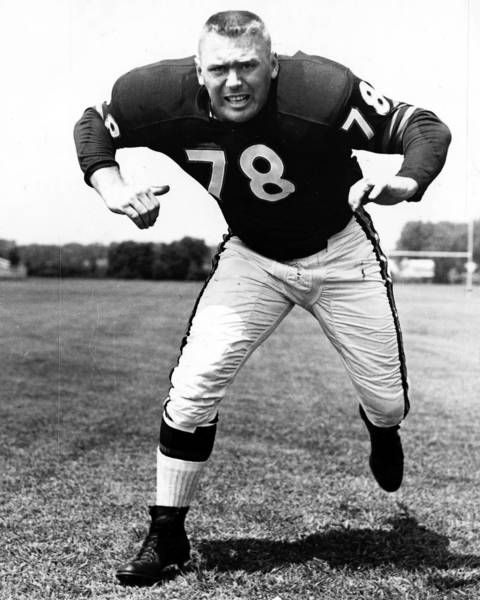 Stan Jones was known for size, strength and quickness as one of football's most affective guards. He played for the Bears from 1954 to 1965 and made seven-straight Pro Bowl teams. He was elected to the Hall of Fame in 1991.