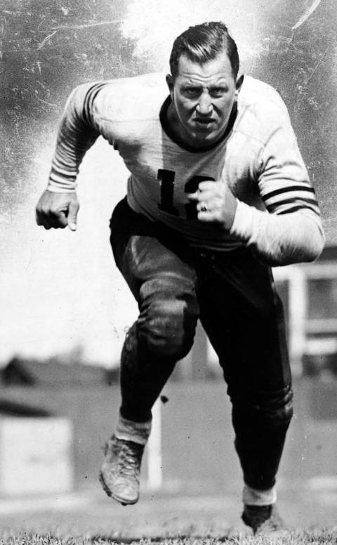 "Roy ""Link Lyman"" played for the Bears during the 1920s and 1930s and is credited with developing a deceptive, shifting style that is a foundation of today's tackle position. The Bears won the NFL title in 1933 and a division title in 1934, his final two seasons. He was elected to the Hall of Fame in 1966."